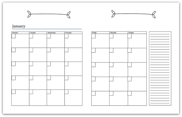 welcome to the new year monthly calendar and monthly memos page