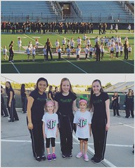 Paisley had quite the day. She aced her first spelling test at school and then danced with Lyla and the Belles on the field! 🐲🎶 🏉 #misspaisleygrace