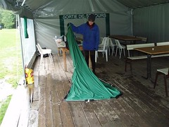 Our Tent after some very heavy rain at the Le Pontet Campsite, Les Contamines Image