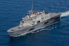 USS Fort Worth (LCS 3) operates in the Sulu Sea during exercise Cooperation Afloat Readiness and Training (CARAT) Malaysia in August.(U.S. Navy/MC2 Joe Bishop)