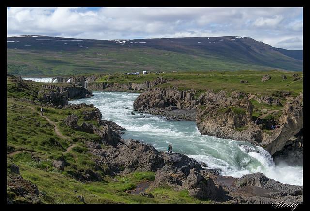 Islandia Myvatn Godafoss Akureyri Glaumbaer Vidimyrarkirkja Grundarfjordur - Cascada Geitafoss