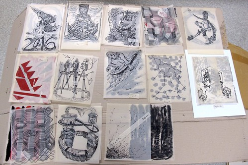 """""""Zeichnungsquerschnitt - 2016"""" Show @ Urban Spree in Berlin"""