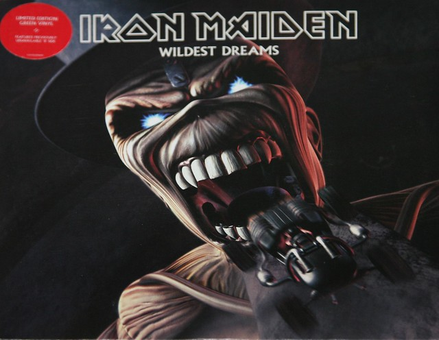 IRON MAIDEN Wildest Dreams / Pass the Jam Green Vinyl