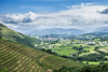Saint-Jean-Pied-de-Port vu depuis les vignobles d'Irouléguy by Nerayen