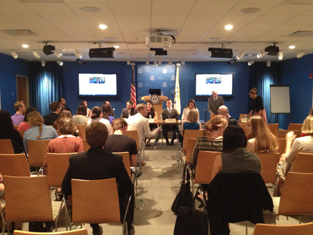 Fulbright-Millennial Trains Project Panel Discussion at the United States Mission to the United Nations organized by the Institute of International Education (August 18th)
