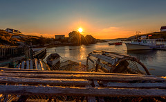 Lobster traps at Peggy's cove