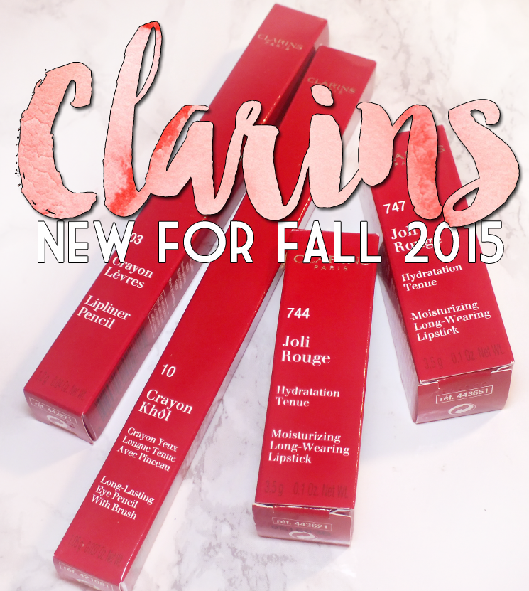 Clarins new for fall2015 joli rouge, crayon kohl, and lip pencil