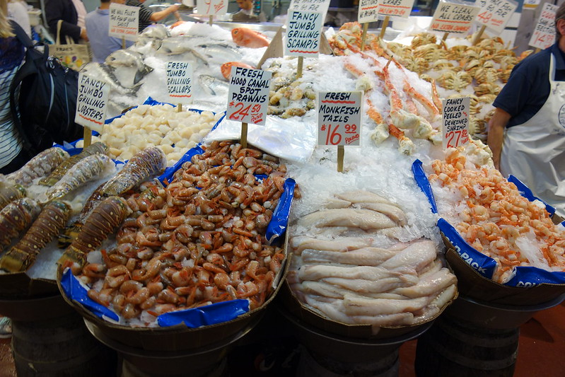 Pike Place Market fish vendors