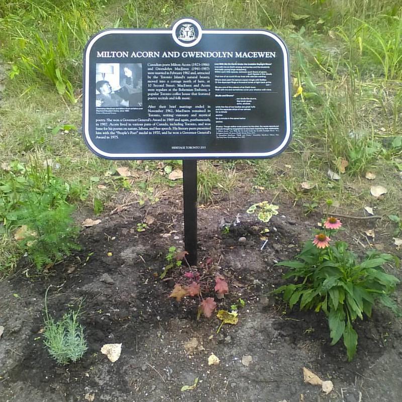 Poets in memoriam #toronto #torontoislands #wardsisland #miltonacorn #gwendolynmacewen #poetry