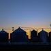 farm silos on Stone School Rd. by mfophotos