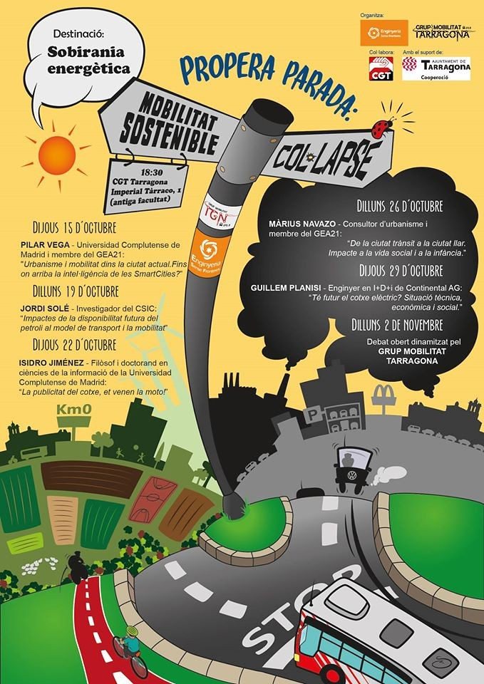 Jornades sobre Mobilitat i Energia, del 15 d'octubre al 2 de novembre a Tarragona