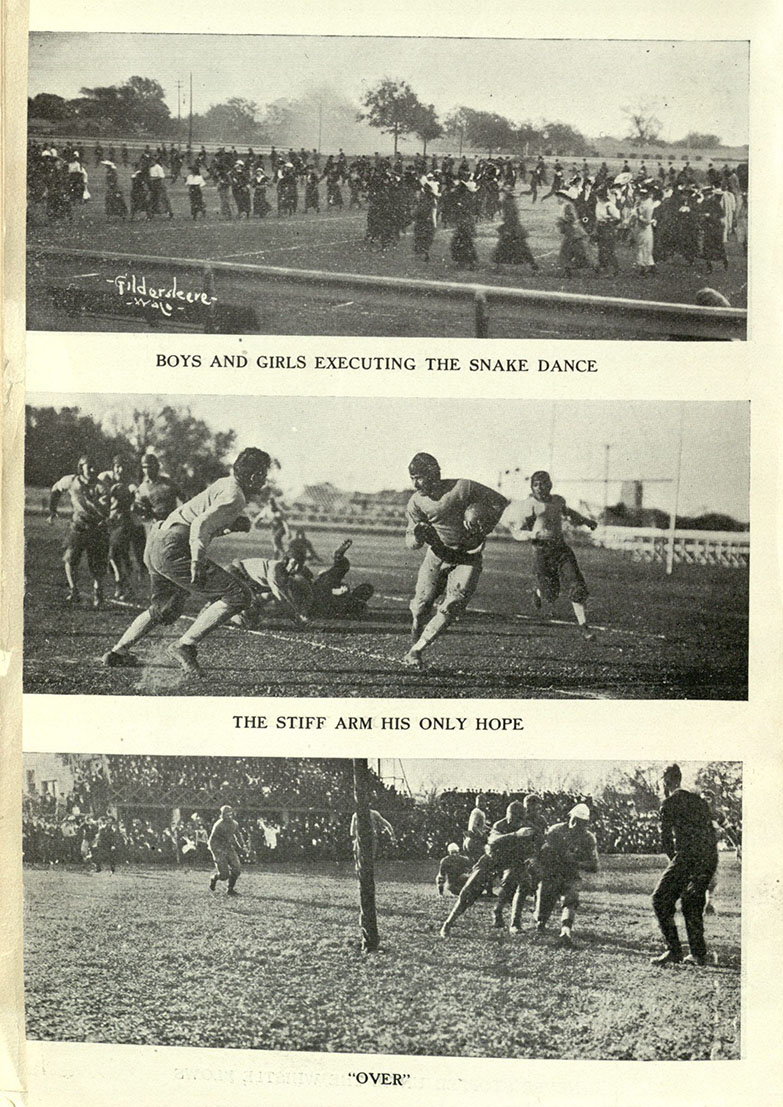 Homecoming football game, Baylor vs. TCU, 1915