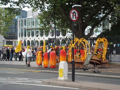 Birmingham Weekender - Centenary Square - yellow and orange group