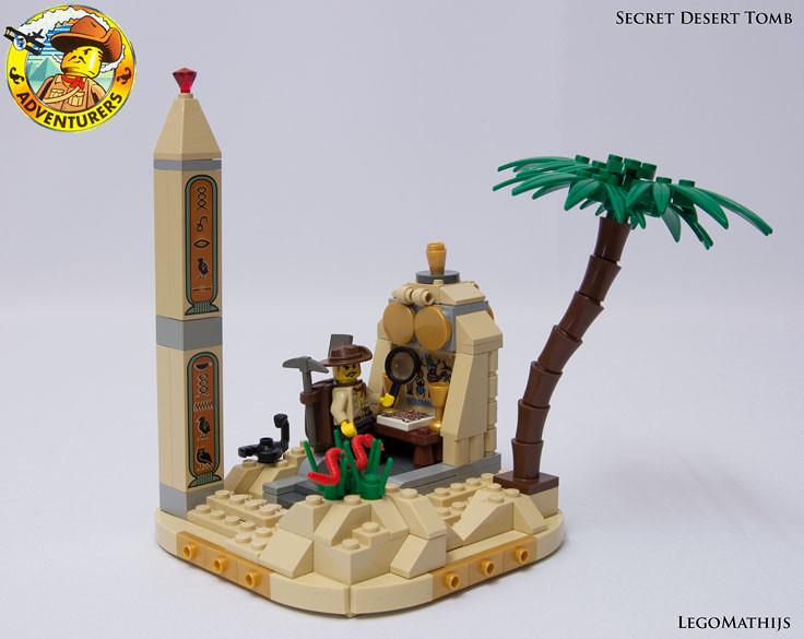 Moc adventurers secret desert tomb lego action and for Siege lego france