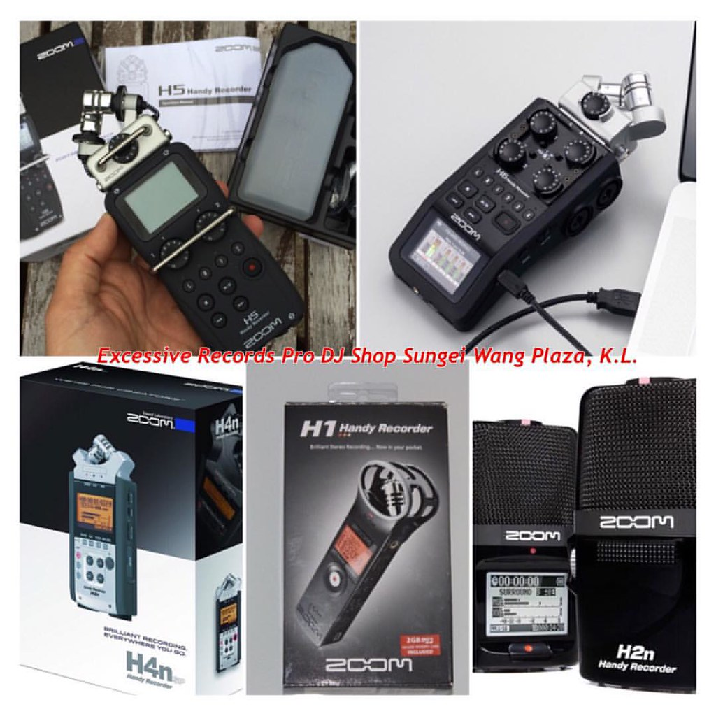 New ZOOM H1, H2N, H4NSP, H5 and H6 handheld handy recorder