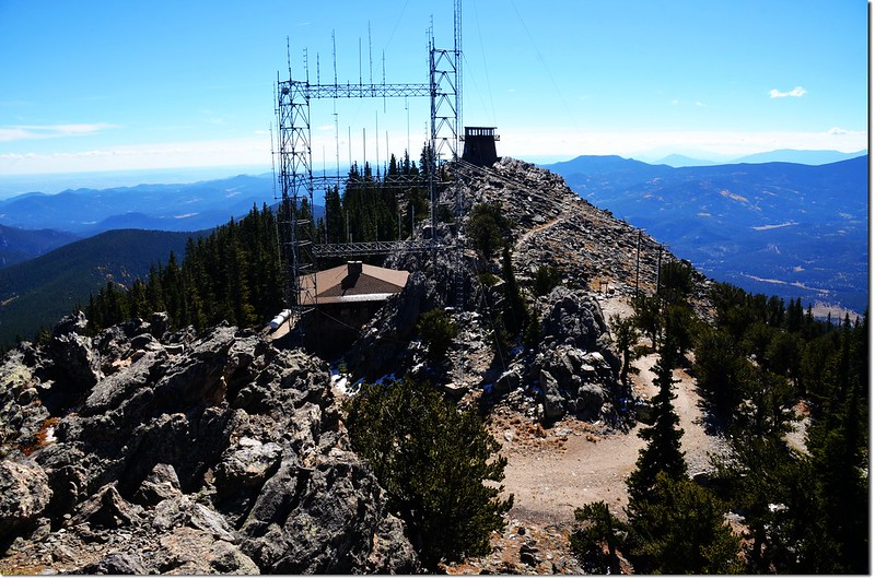 View to southeast from the middle summit