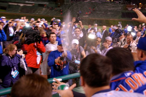 Terry Collins champagne