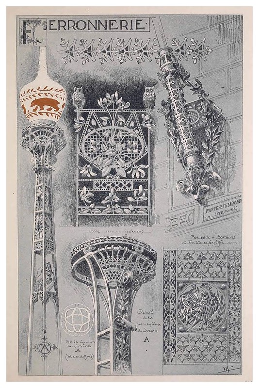 005-Ornamentos de hierro-Esquisses Décoratives- 1905- Rene Binet