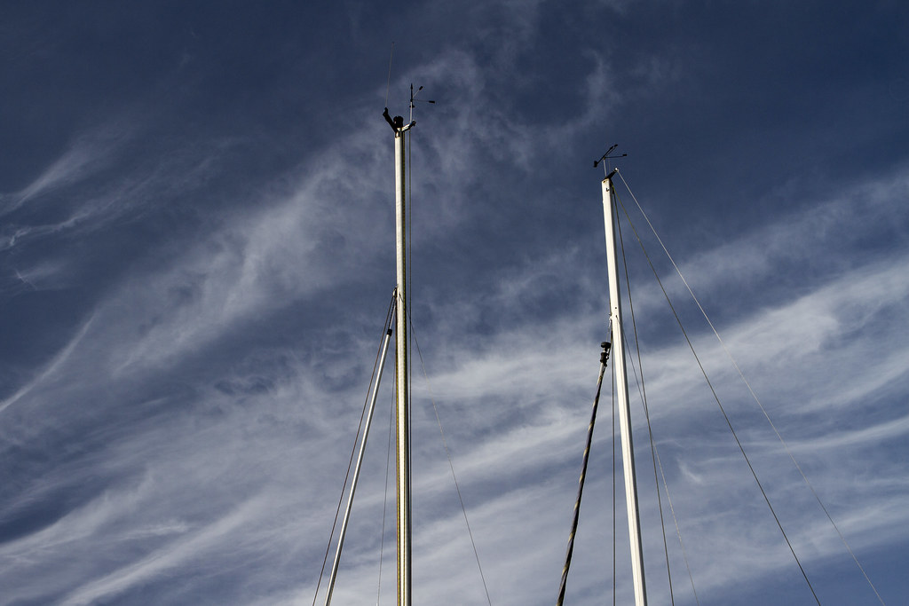 Masts against the sky