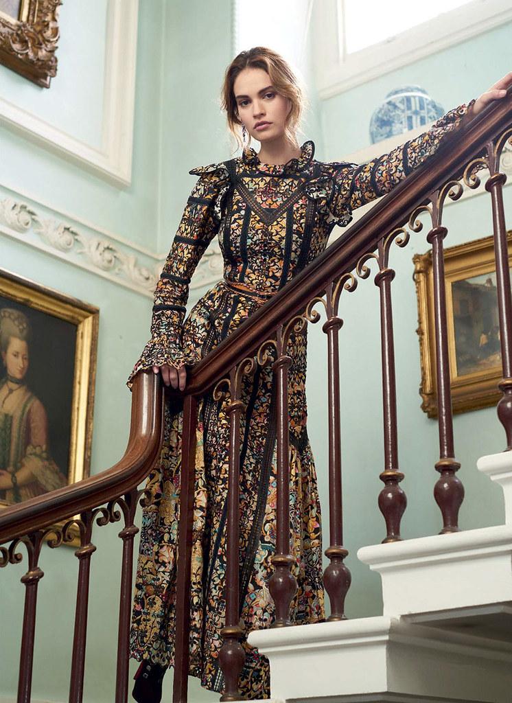 Лили Джеймс — Фотосессия для «Harper's Bazaar» UK 2015 – 5