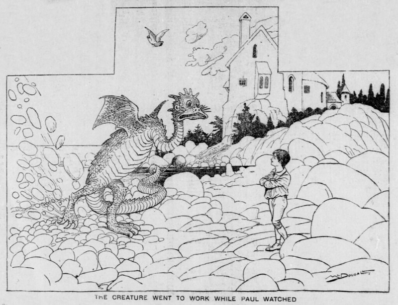 Walt McDougall - The Salt Lake herald., January 04, 1903, The Creature Went To Work While Paul Watched