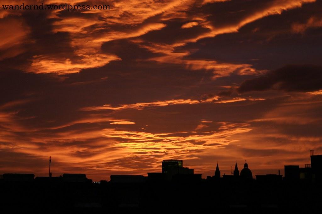 Sonnenuntergang über Wien-Favoriten