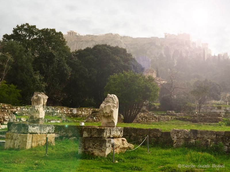 Entrada al Odeón de Agripa