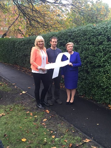(L-R) Miriam O'Callaghan broadcaster, Minister Fitzgerald with Tom Meagher launching  the White Ribbon Ireland event