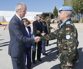 Visita al contingente español UNIFIL en Libano