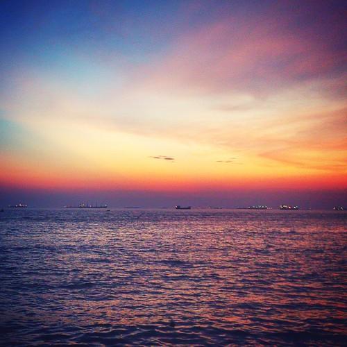 sunset sea sony cellphone bangladesh chittagong xperia navalbeach iftakharhasan sonyxperialt28iion