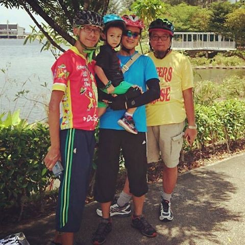 West end of Punggol Waterway, thanks om Erwin for the pic. #cycling #indivaraakhtar #LateUpload