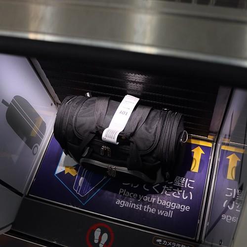 タグも自分で付ける、と。 #羽田空港