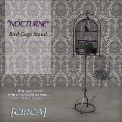 "@ SWANK ~ [CIRCA] - ""NOCTURNE"" - Bird Cage Stand - Violet & Pewter"