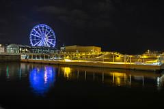 Ferris wheel reflection in the sea / Riesenrad Reflexion im Meer