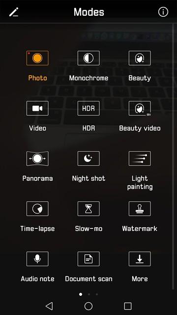 Huawei Mate 9 - EMUI 5.0 - Camera App Modes