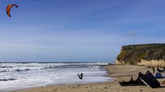 Kitesurfers, Scott Creek beach