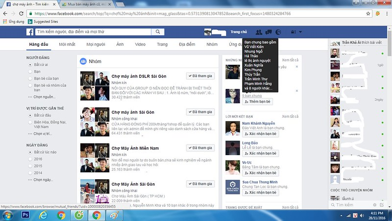 manh anh o facebook