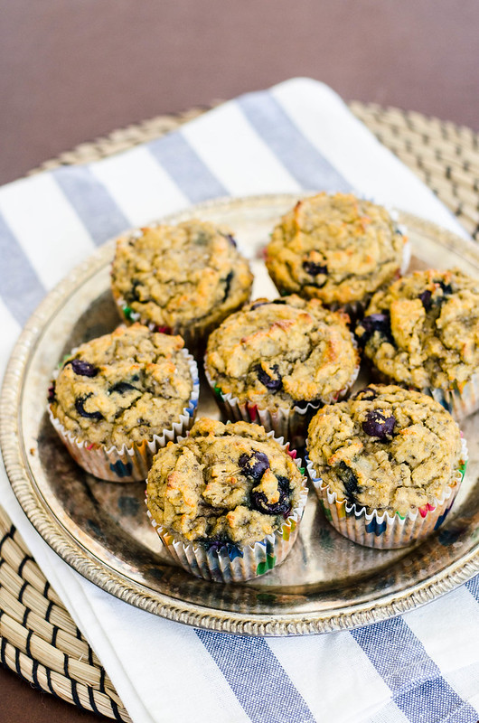 Blueberry Banana Coconut Chia Muffins (Gluten Free) | cookingalamel.com