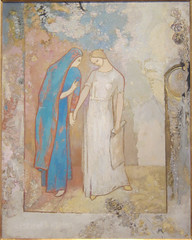 Odilon Redon, Initiation to Study--Two young ladies, c. 1905, Dallas Museum of Art