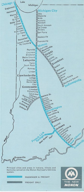 Monon 1965 Map