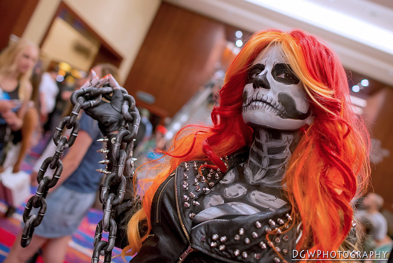 Lisa Phalstaf as Ghost Rider - Connecticut ComiConn