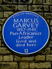 Photo of Marcus Garvey blue plaque