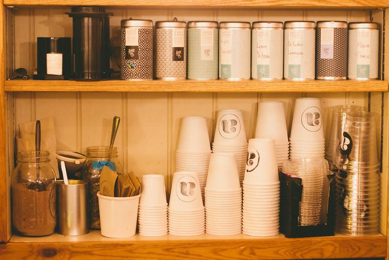 {attendant cafe, london} via chevrons & éclairs