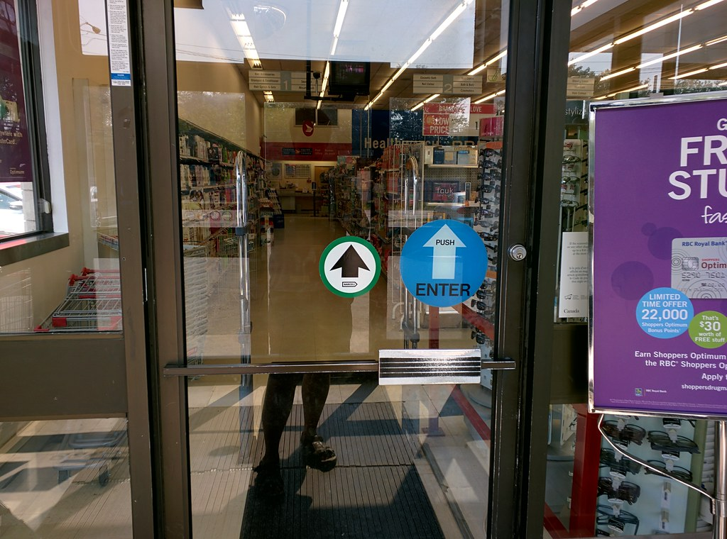 Bon Fluidr / New Decal/Automatic Doors At Shoppers Drug Mart By Huy Dang
