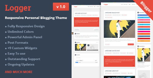 Logger - Responsive Personal Blogging Theme (Blogger)