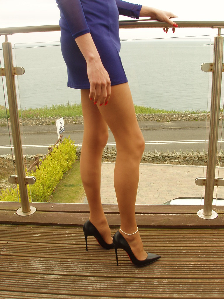 Think, that nylons and heels