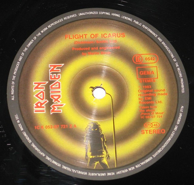 "IRON MAIDEN - Flight of Icarus (12"" Maxi Single)"