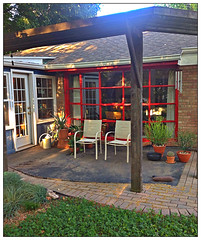 backyard, outdoor structure, property, pergola, porch, gazebo, patio, home,