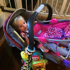 Because sometimes you want to take your doll stroller with you.