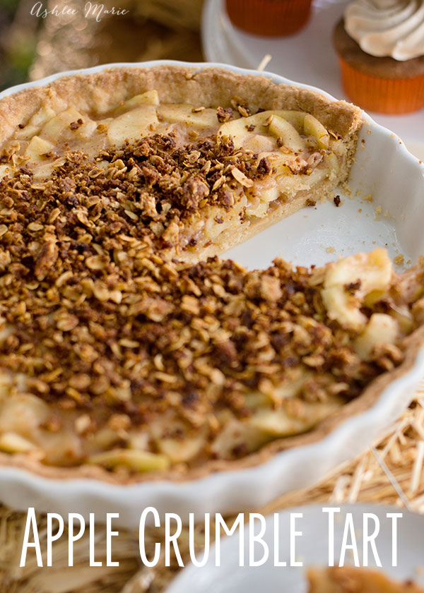 better than an apple pie the components of this dessert are cooked and baked separately so the crust and crumble say crisp perfectly complimenting the soft sweet apples